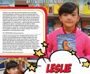 Super Reader of the Week: Leslie Marinelarena