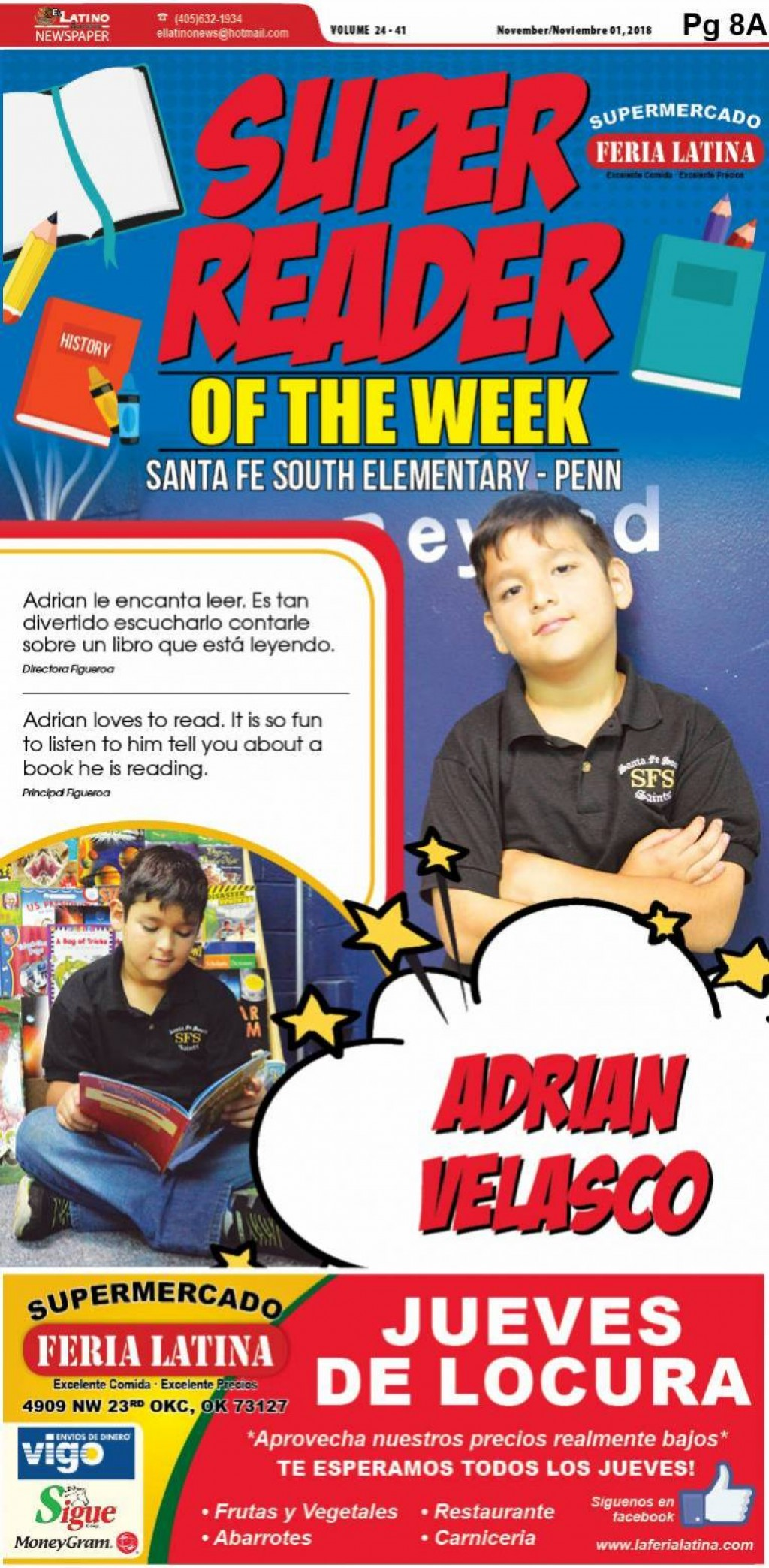 Super Reader of the Week: Adrian Velasco