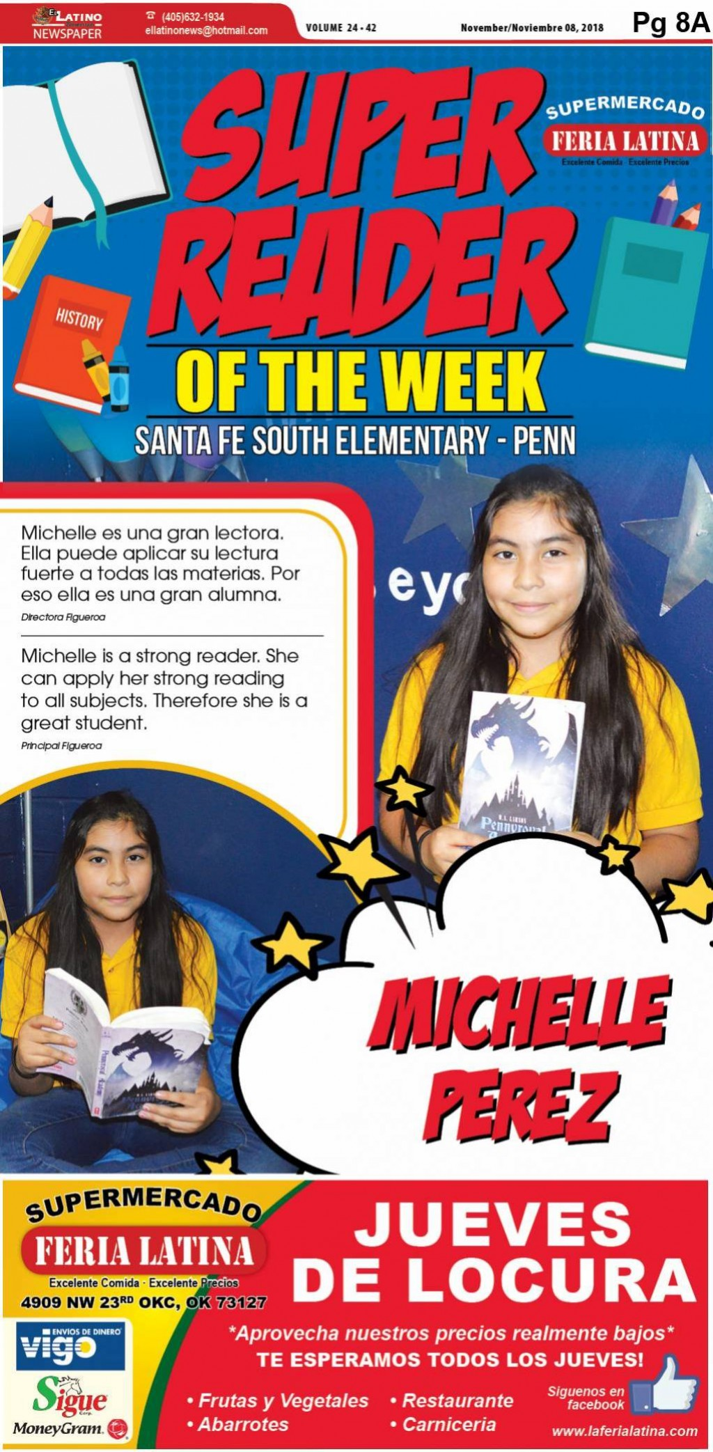Super Reader of the Week: Michelle Perez