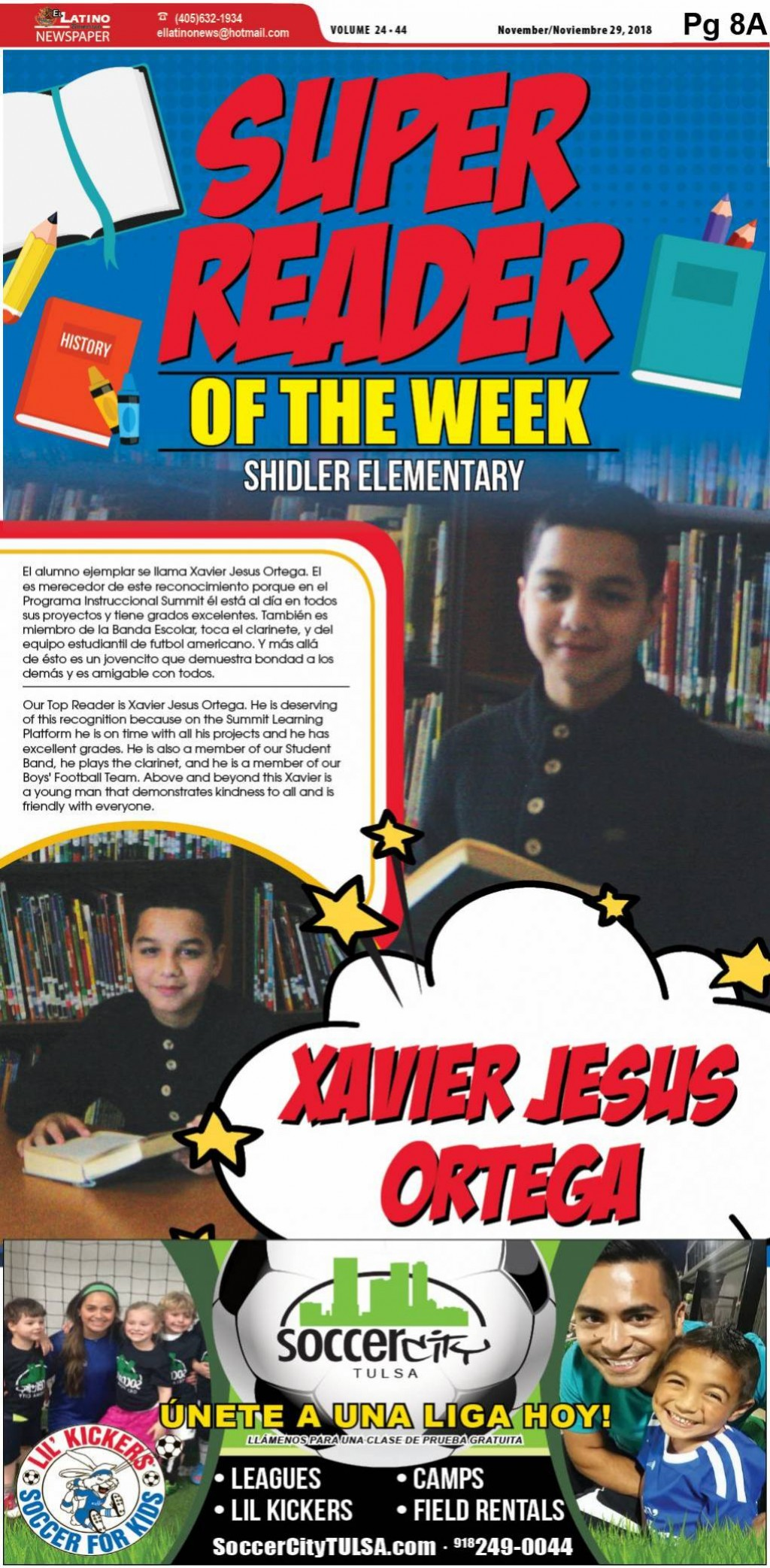 Super Reader of the Week: Xavier Jesus Ortega