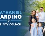 Nathaniel Harding  Lanza Candidatura para Consejo Municipal - Distrito 6