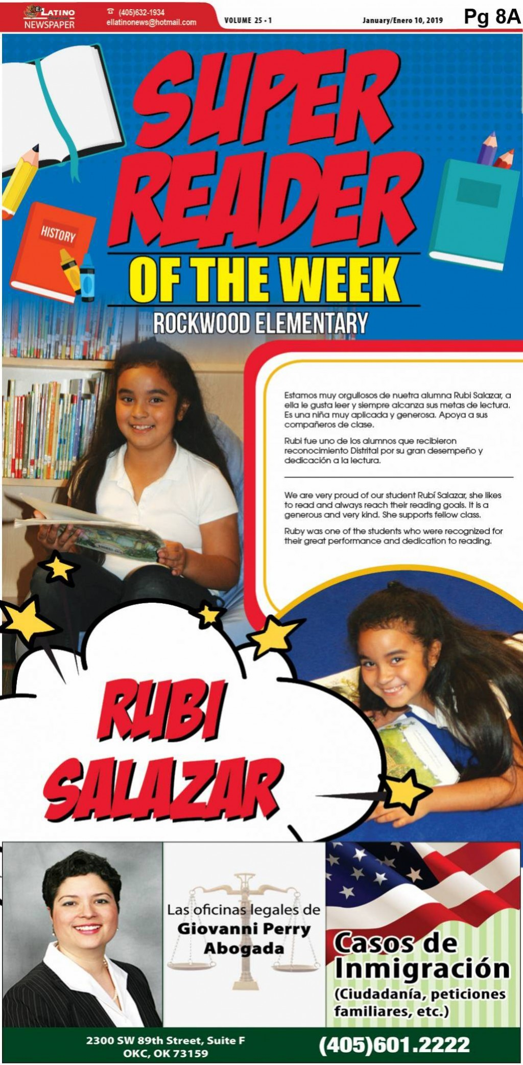 Super Reader of the Week: Rubi Salazar