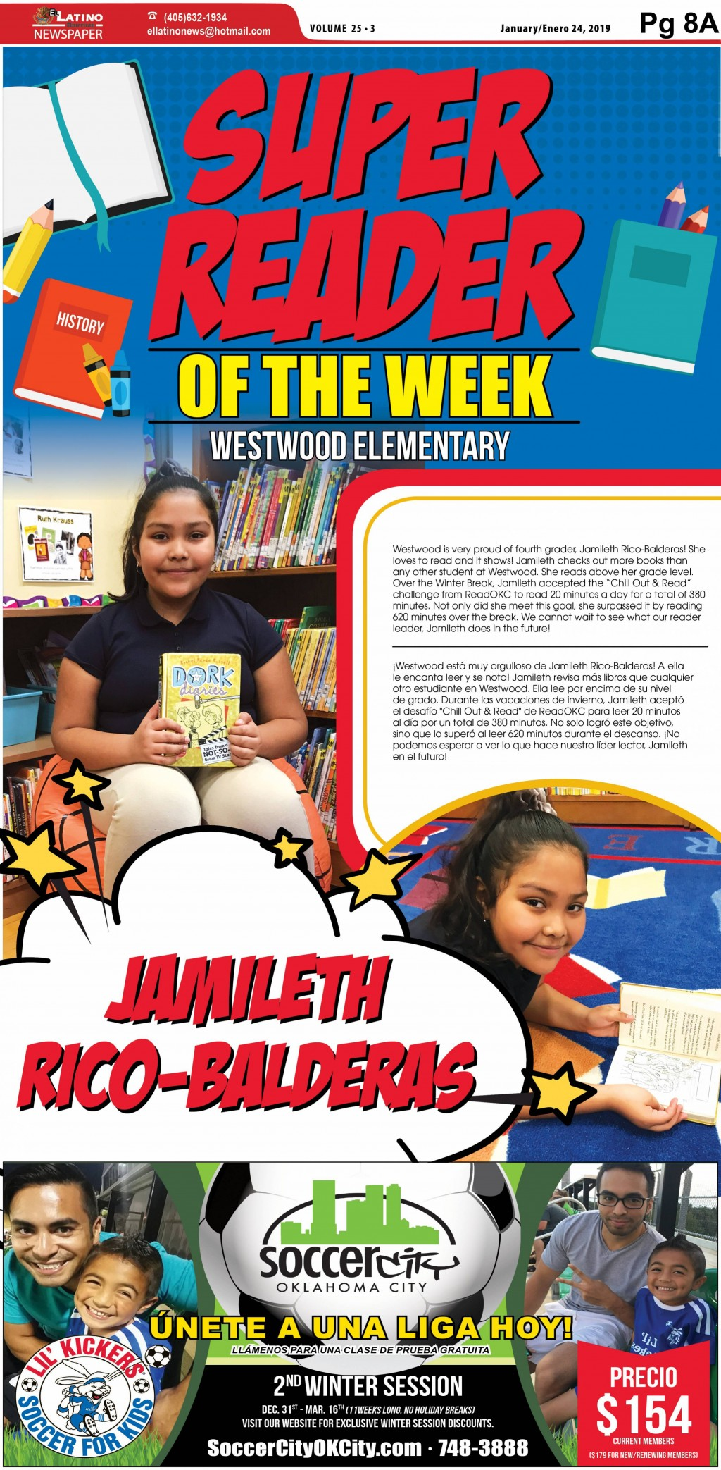 Super Reader of the Week: Jamileth Rico - Balderas
