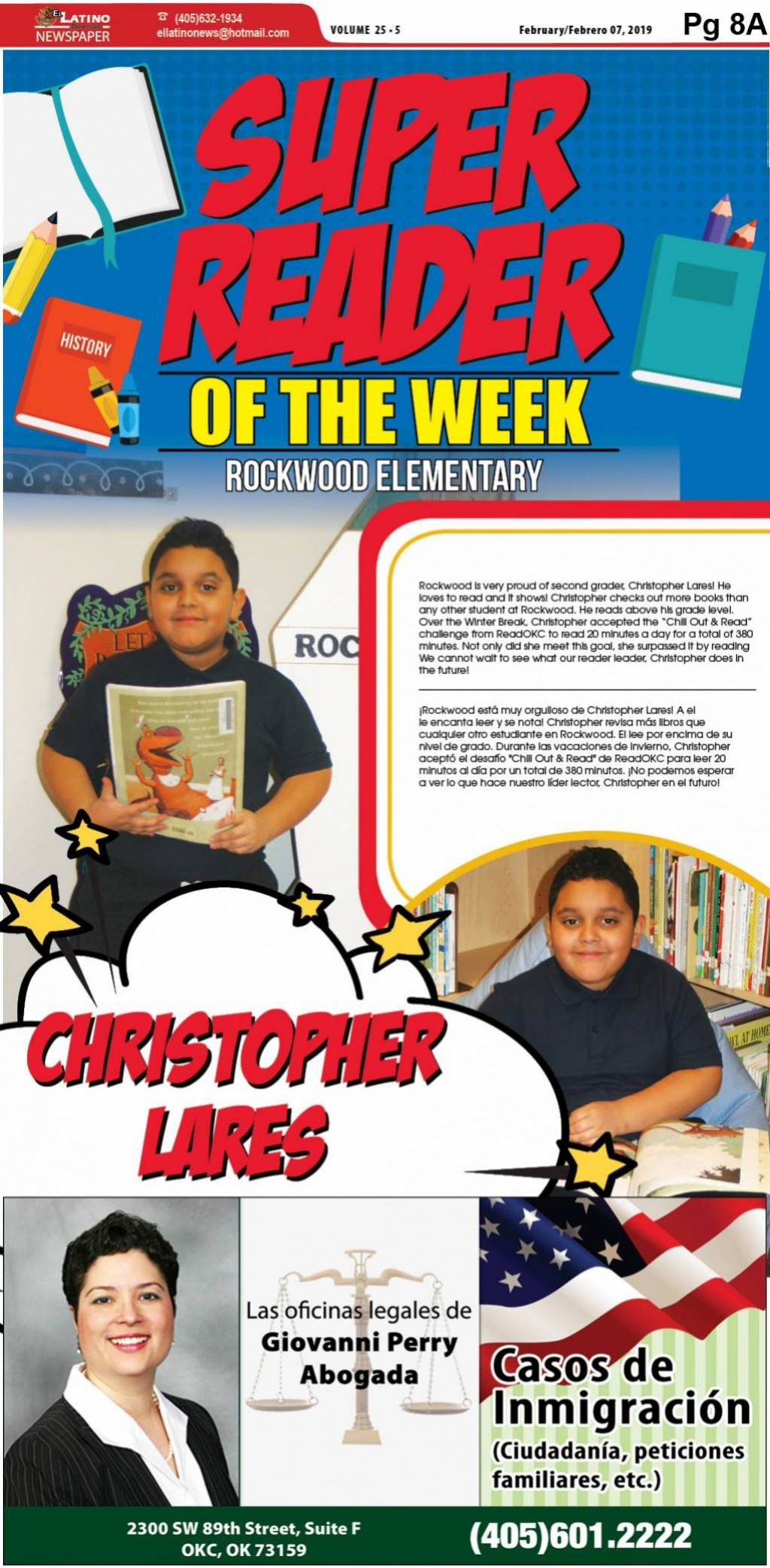 Super Reader of the Week: Christopher Lares