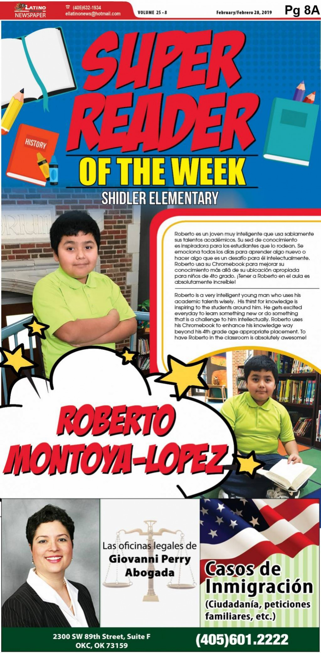 Super Reader of the Week: Roberto Montoya-Lopez